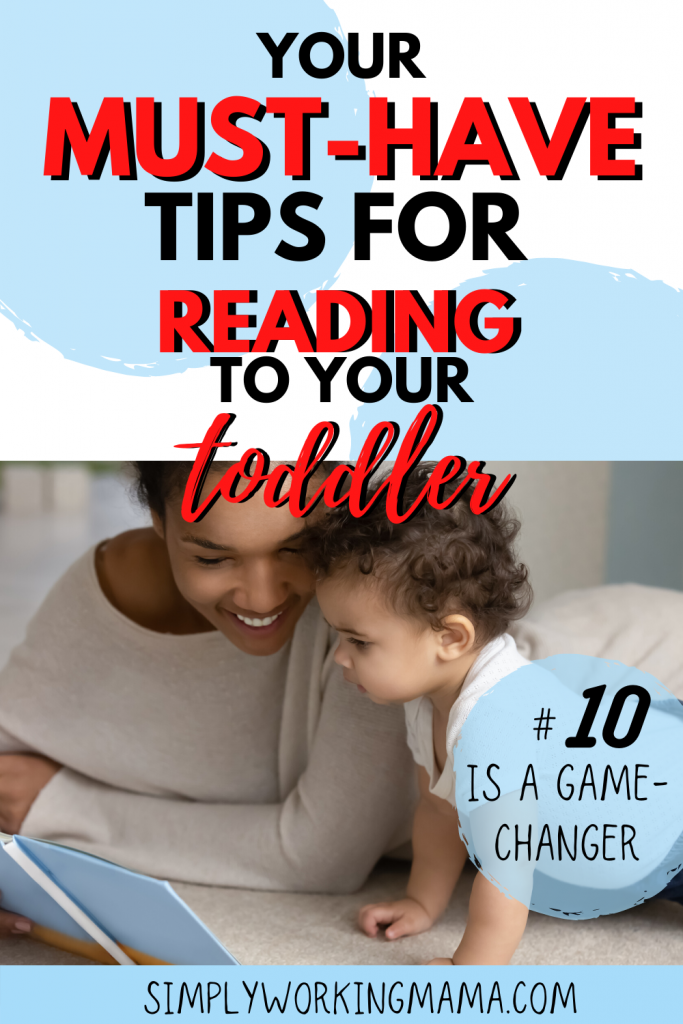 Mom reading toddler; how to read to toddlers