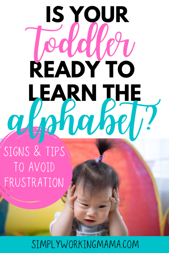 toddler showing frustration; ready to learn the alphabet