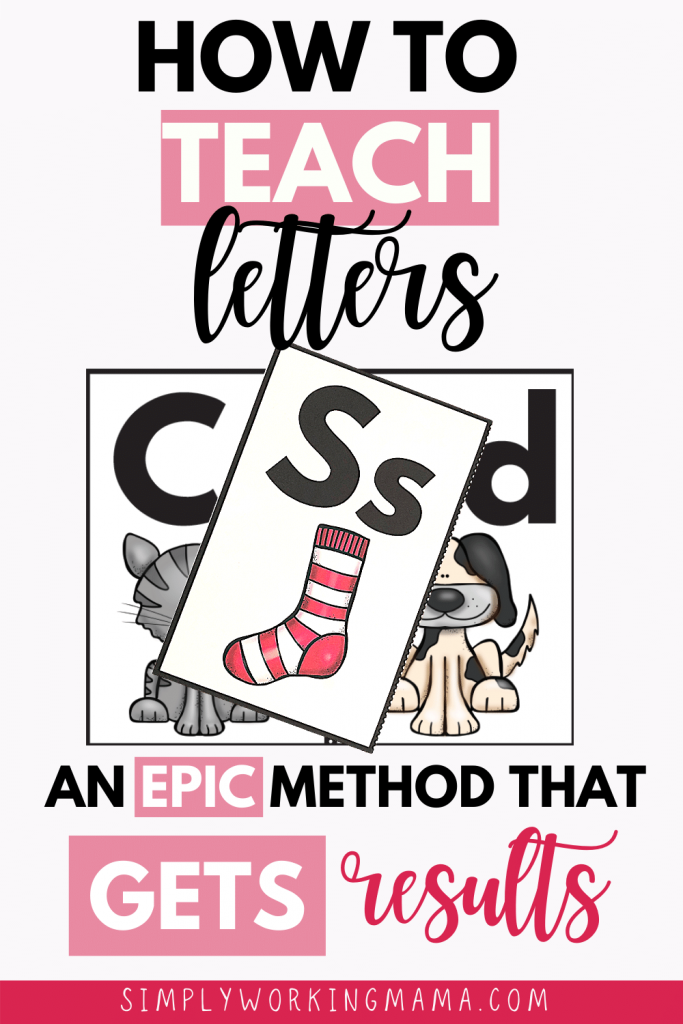 letter keywords cards; how to teach letters